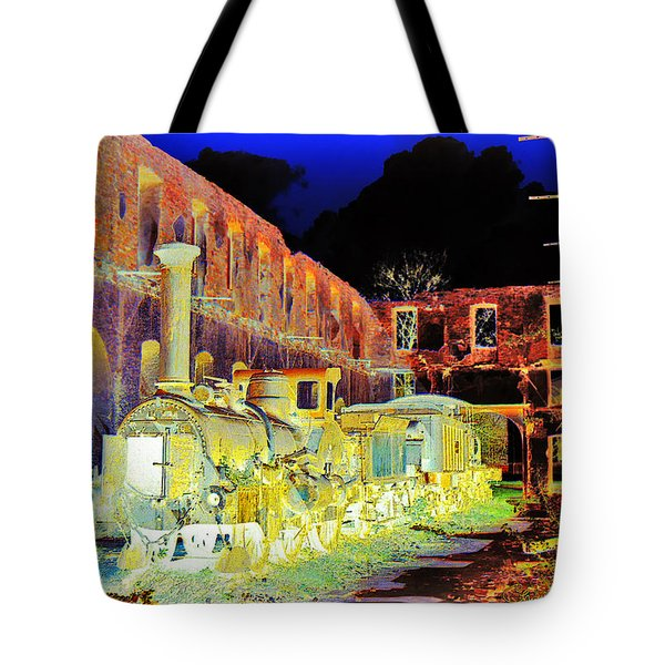 Ghost Train Tote Bag by Chuck Staley