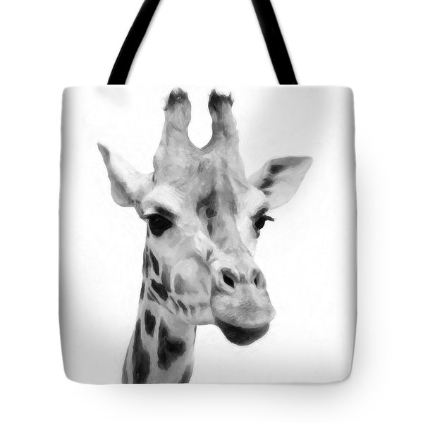 Giraffe On White Background  Tote Bag