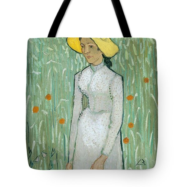 Girl In White Tote Bag by Vincent van Gogh