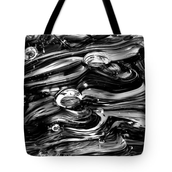 Glass Macro - Black And White Tote Bag by David Patterson
