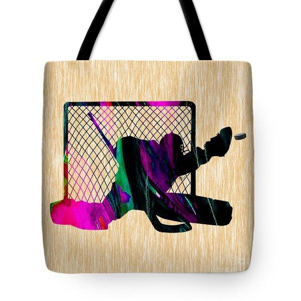 Goalie Tote Bag by Marvin Blaine