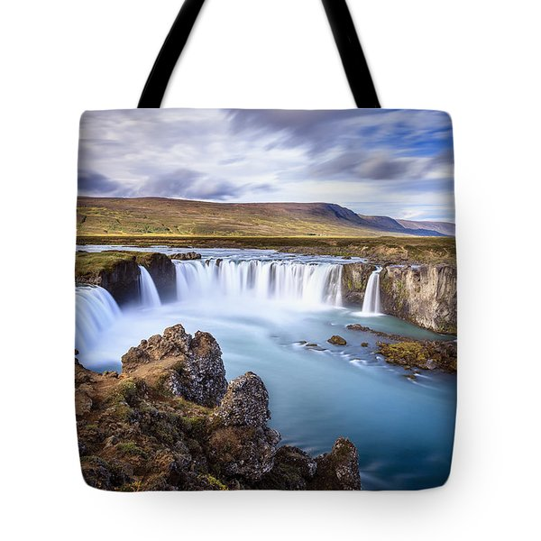 Godafoss Waterfall Tote Bag