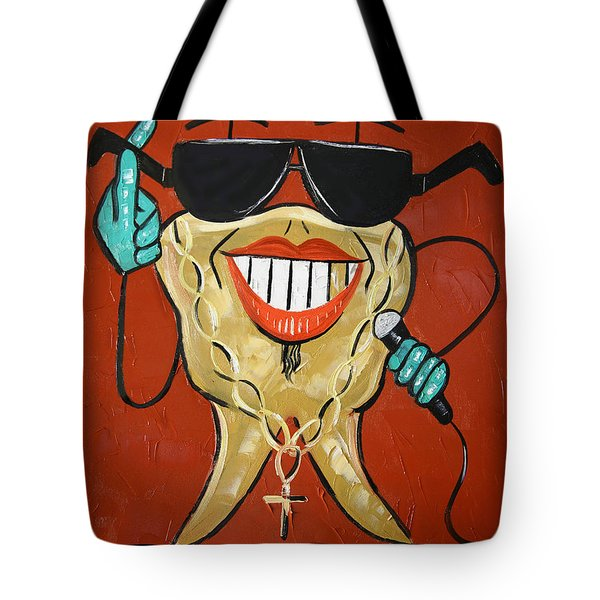 Tote Bag featuring the painting Gold Tooth by Anthony Falbo
