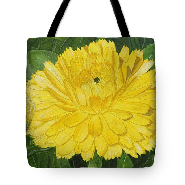 Golden Punch Tote Bag by Donna  Manaraze