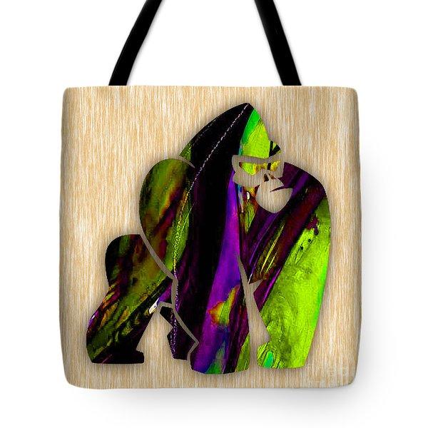 Gorilla Painting Tote Bag