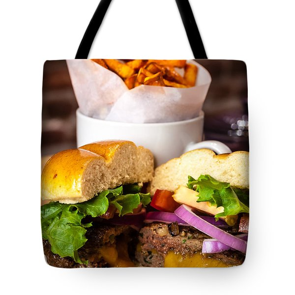 Gourmet Pub Hamburger Tote Bag