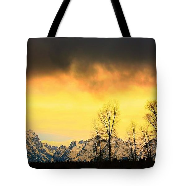 Tote Bag featuring the photograph Grand Tetons Wyoming by Amanda Stadther