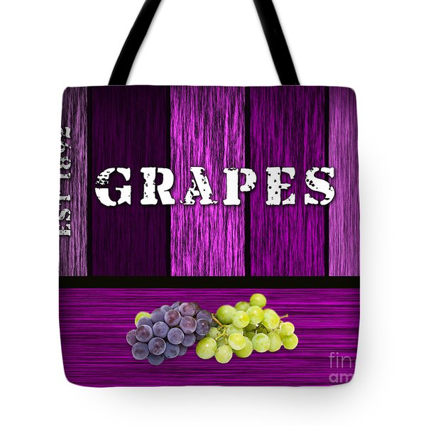 Grape Farm Tote Bag by Marvin Blaine