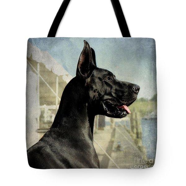 Great Dane Tote Bag by Fran J Scott