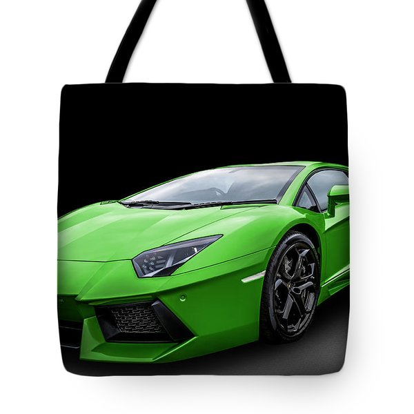 Green Aventador Tote Bag by Matt Malloy