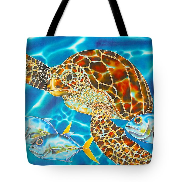Green Sea Turtle Tote Bag by Daniel Jean-Baptiste