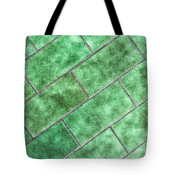 Green Tiles Tote Bag by Tom Gowanlock