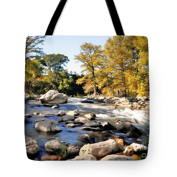 Tote Bag featuring the photograph Guadalupe River  by Savannah Gibbs