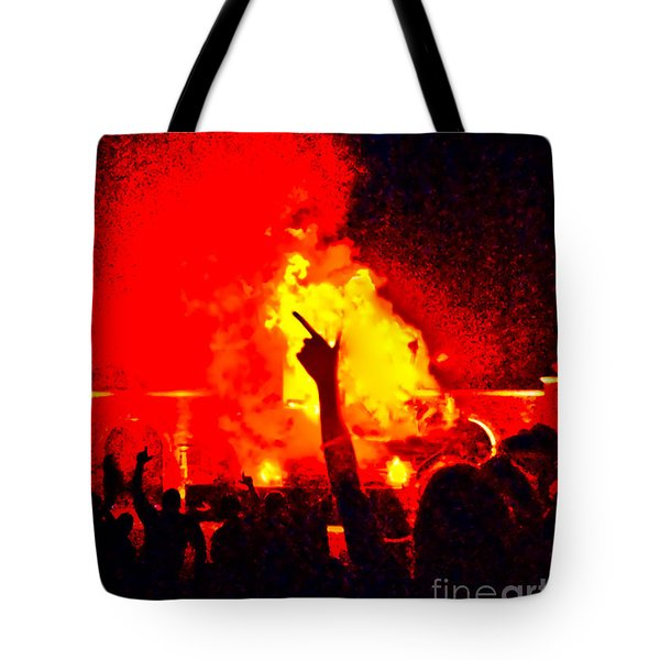 Tote Bag featuring the photograph Guns-up Salute by Mae Wertz