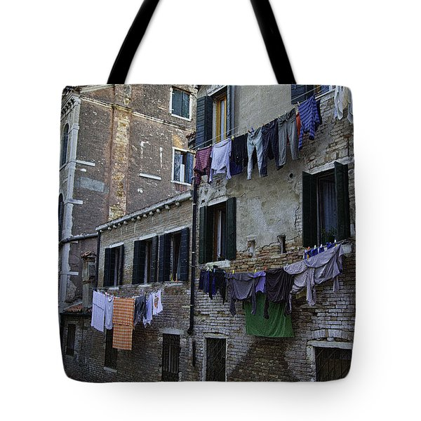 Hanging Out To Dry In Venice Tote Bag