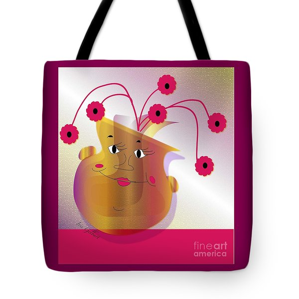Tote Bag featuring the digital art Happy Dance by Iris Gelbart