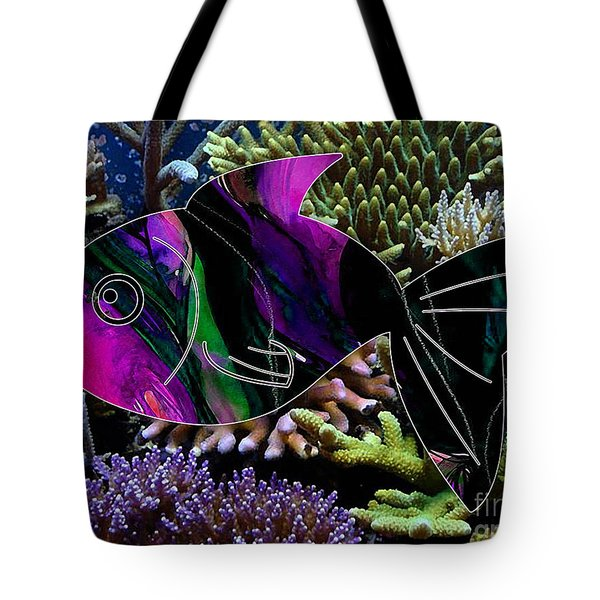 Happy Fish Tote Bag by Marvin Blaine