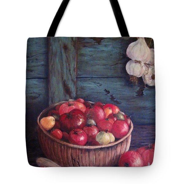Tote Bag featuring the painting Harvest Time by Megan Walsh