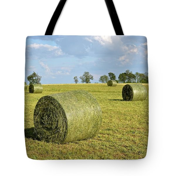 Hay Bales In Spring Tote Bag