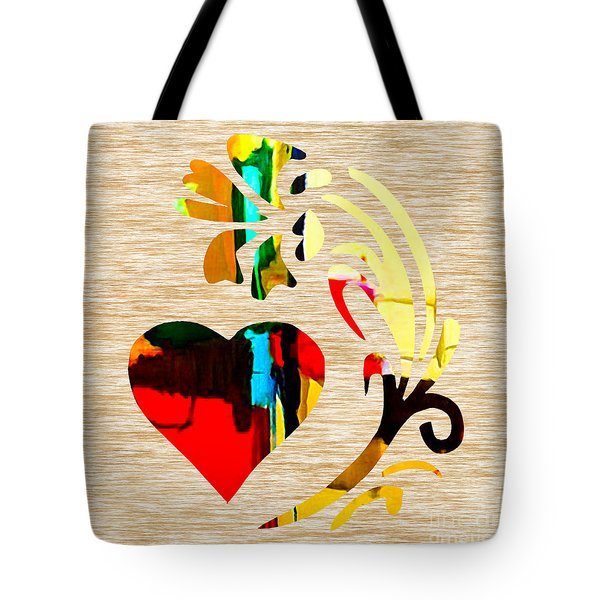 Heart And Flowers Tote Bag by Marvin Blaine