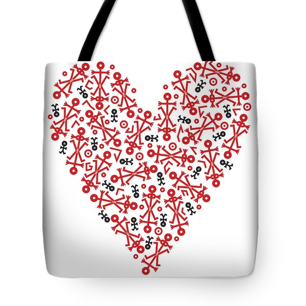 Heart Icon Tote Bag by Thisisnotme
