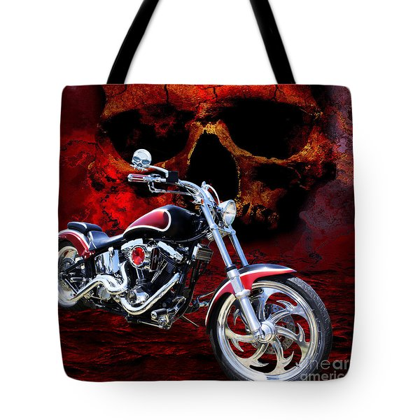 Heaven And Hell Tote Bag by Linda Lees