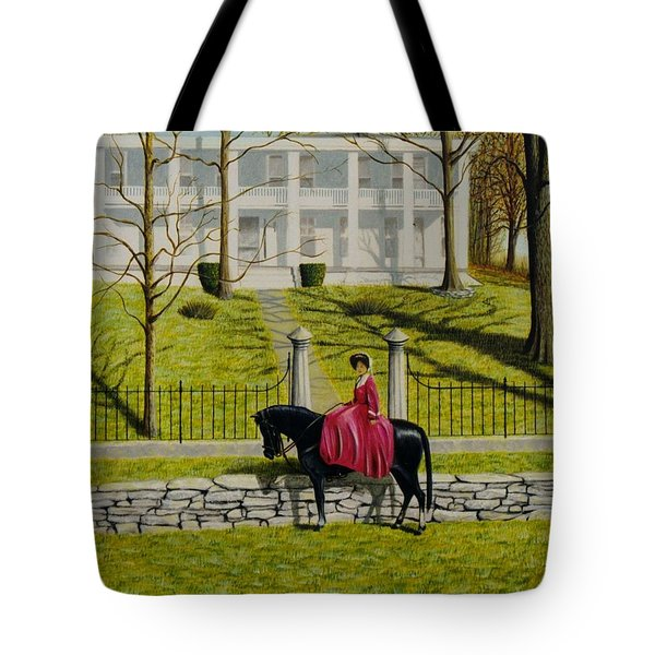 Tote Bag featuring the painting Her Favorite Horse by Stacy C Bottoms