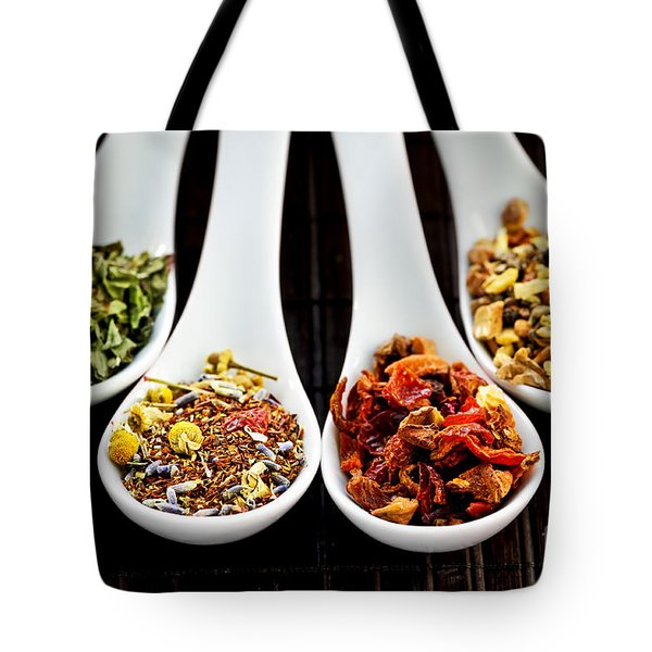 Herbal Teas Tote Bag by Elena Elisseeva