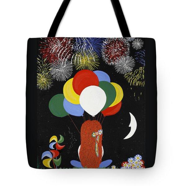 Holiday Magic Tote Bag by Nathalie Sorensson