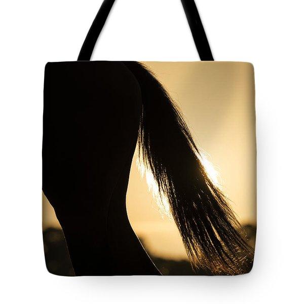 Horse Sunset Tote Bag by Michael Mogensen