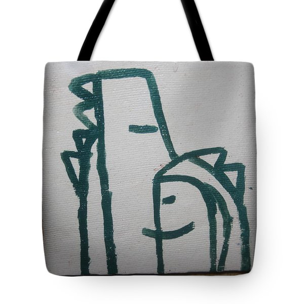 Hugs - Tile Tote Bag by Gloria Ssali