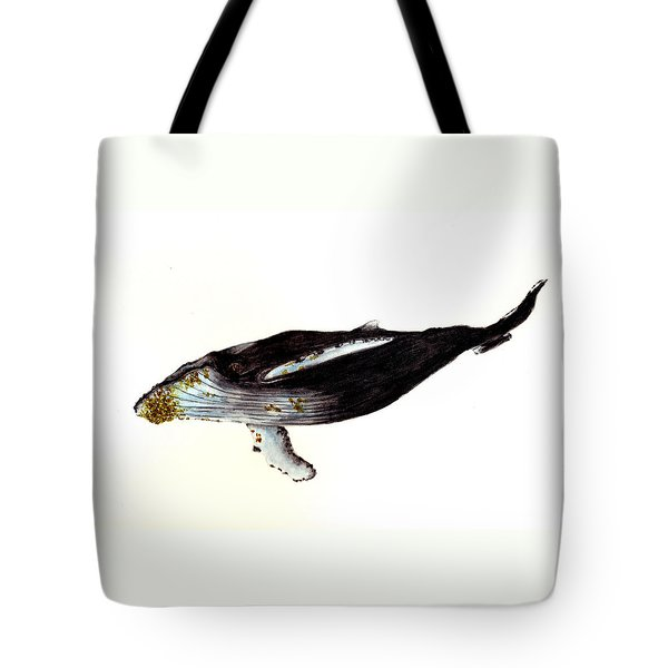 Humpback Whale Tote Bag by Michael Vigliotti