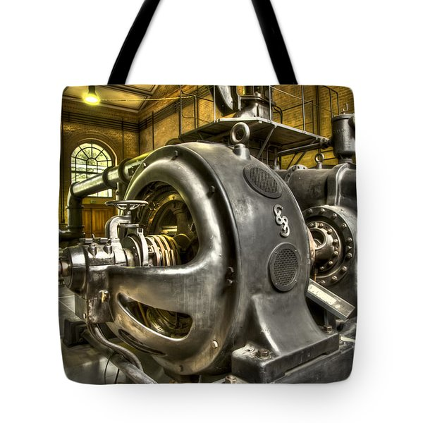 In The Ship-lift Engine Room Tote Bag by Heiko Koehrer-Wagner