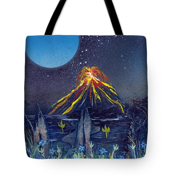 Tote Bag featuring the painting Interruption by Jason Girard