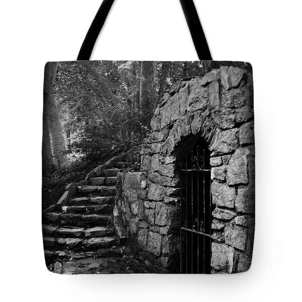 Iron Door In A Garden Tote Bag