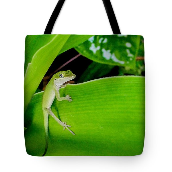 It's Easy Being Green Tote Bag by TK Goforth
