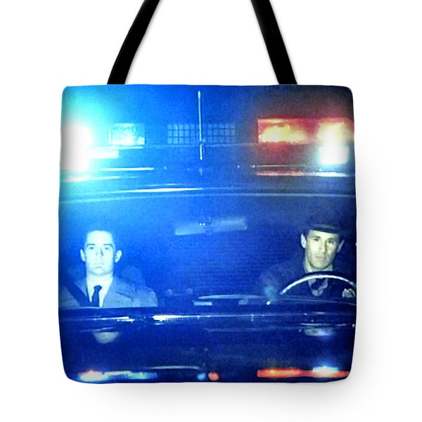 Tote Bag featuring the painting Its Either Joey Or James Hurley by Luis Ludzska
