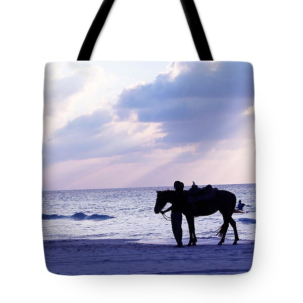 Walking Home From A Long Day Tote Bag