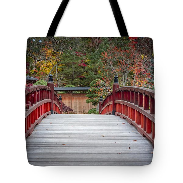Tote Bag featuring the photograph Japanese Bridge by Sebastian Musial