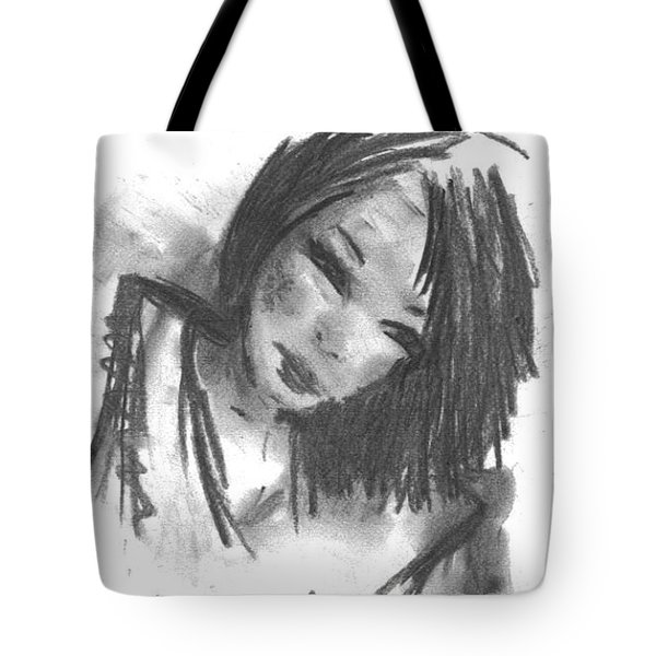 Tote Bag featuring the drawing Jasper by Laurie L