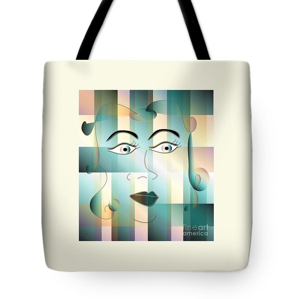 Tote Bag featuring the digital art Jeana by Iris Gelbart