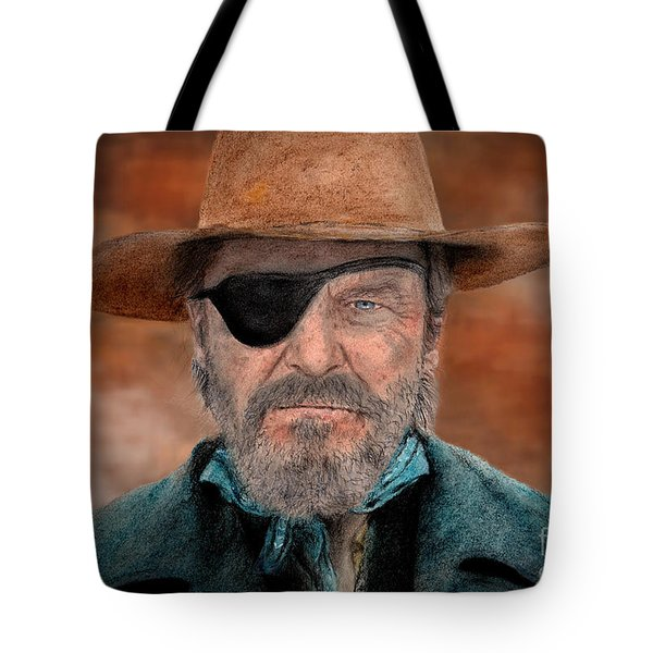 Jeff Bridges As U.s. Marshal Rooster Cogburn In True Grit  Tote Bag