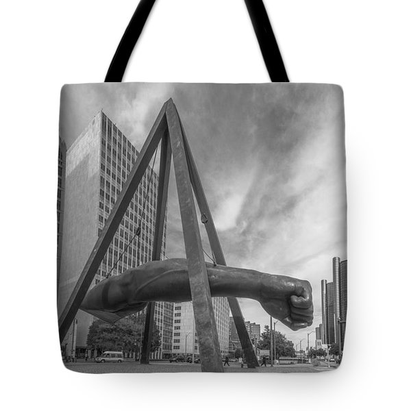Joe Louis Fist In Detroit  Tote Bag