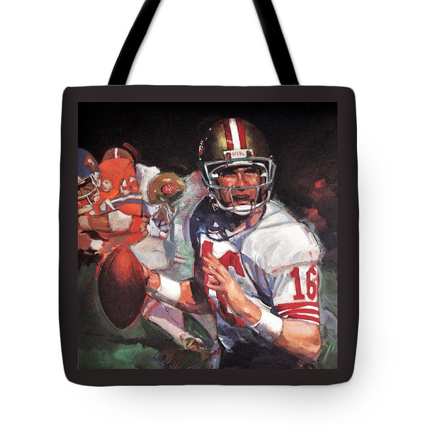 Joe Montana Tote Bag by Jay Milo