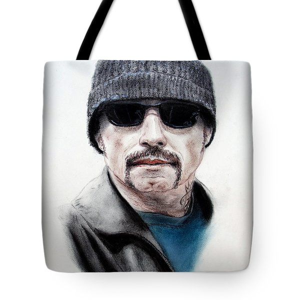 Tote Bag featuring the mixed media John Travolta In The Taking Of Pelham 123  by Jim Fitzpatrick