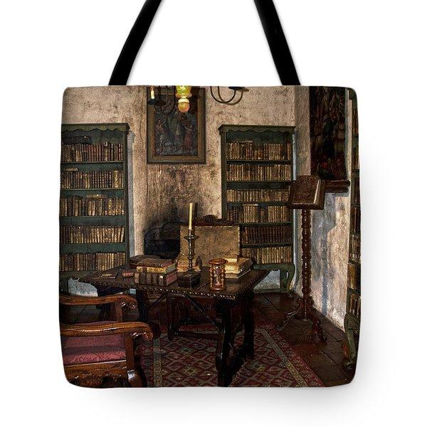 Junipero Serra Library In Carmel Mission Tote Bag