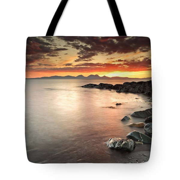 Jura Sunset Tote Bag