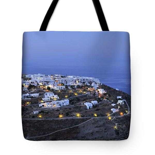 Kastro Village In Sifnos Island Tote Bag