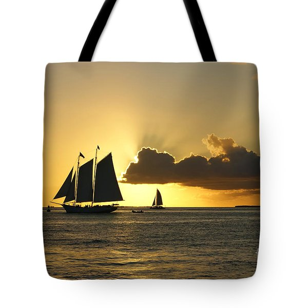 Tote Bag featuring the photograph Key West Sunset by Olga Hamilton