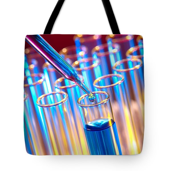 Laboratory Experiment In Science Research Lab Tote Bag by Science Research Lab By Olivier Le Queinec